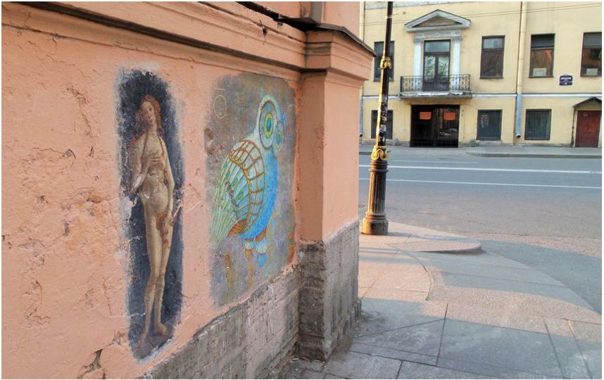 """Репродукции картин, которые были на фасадах домов. Архивное фото. Фото """"Metro"""""""