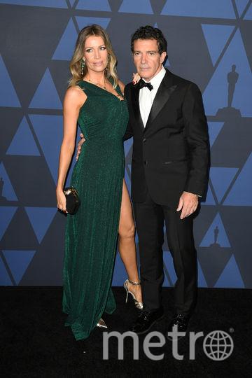 Антонио Бандерас со своей возлюбленной Николь Кимпел. Фото Getty