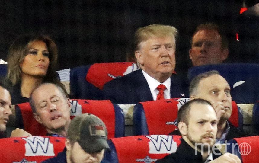 На бейсбольном матче в Вашингтоне. Фото Getty
