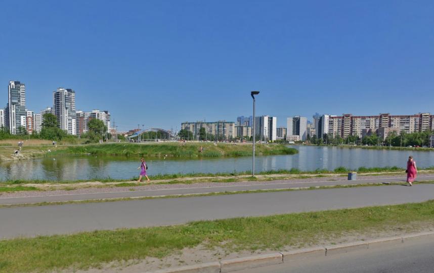 Так озеро выглядело летом 2018 года. Фото скриншот Яндекс.Панорамы
