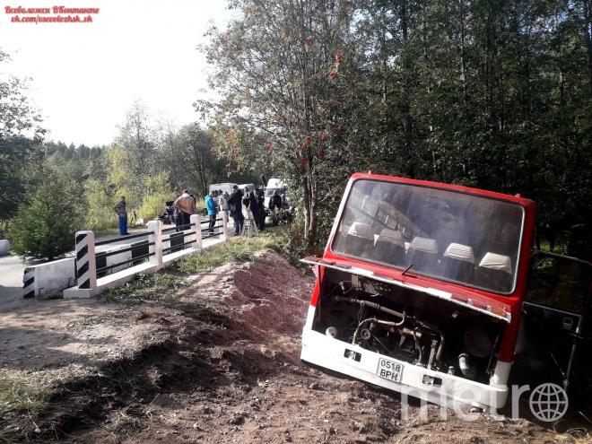 Аварию снимали в Ленобласти. Фото vk.com/vsevolozhsk_vk, vk.com