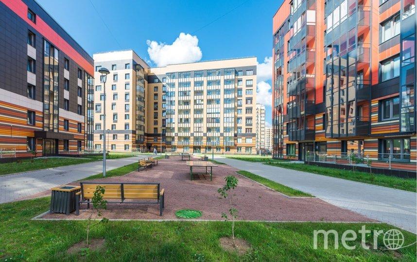 """Яркие и нестандартные фасады выделяют новые жилые комплексы среди конкурентов. Фото ГК """"ЛЕНСТРОЙТРЕСТ"""""""
