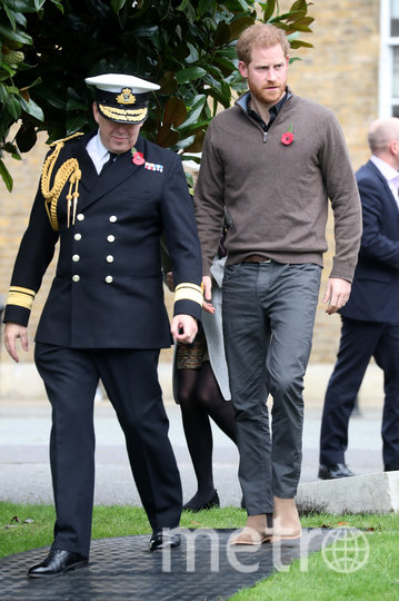 Принц Гарри со сборной. Фото Getty