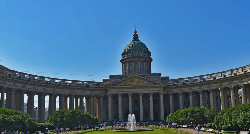 Сквер у Казанского собора. Фото Яндекс.Панорамы