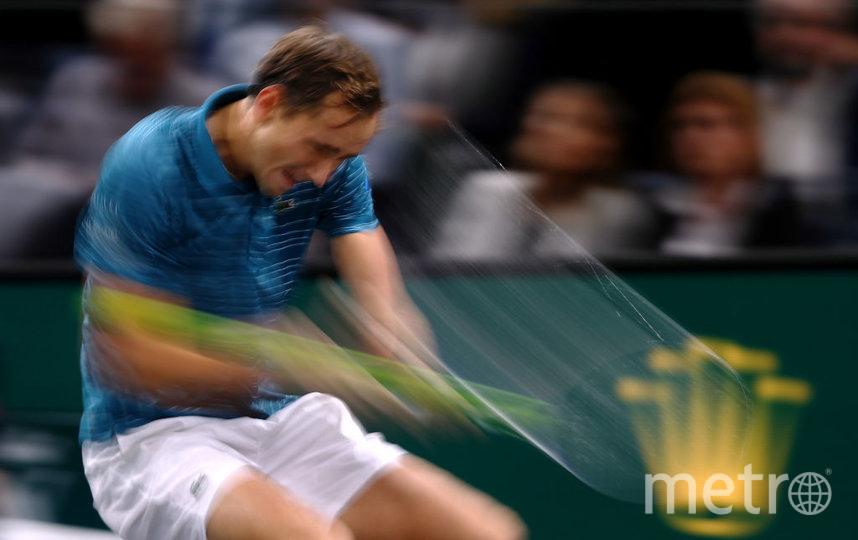 Даниил Медведев вылетел во втором круге в Париже. Фото Getty