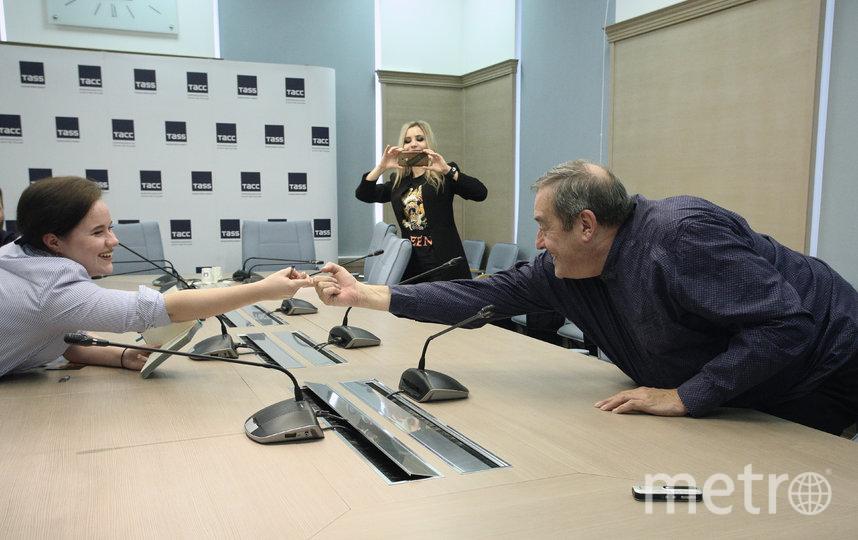 Корреспонент Metro, Питер Фристоун и Наталья Поснова. Фото Алексей Романов