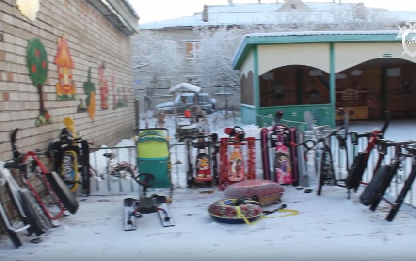 Детский сад в Нарьян-Маре, где произошла трагедия. Фото Скриншот видео YouTube / СК РФ., Скриншот Youtube