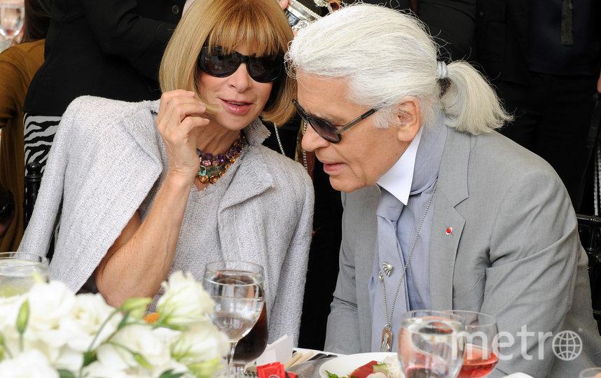 Анна Винтур и Карл Лагерфельд. Фото Getty