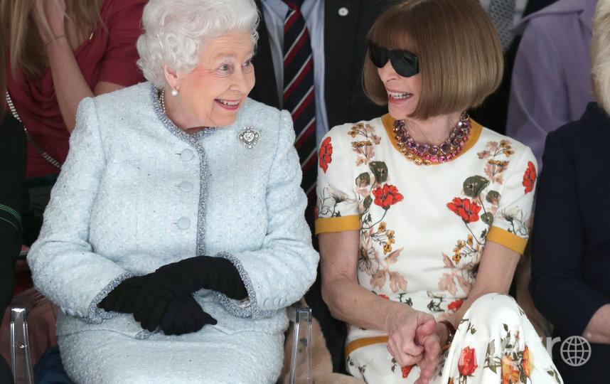 Анна Винтур и королева Елизавета II. Фото Getty
