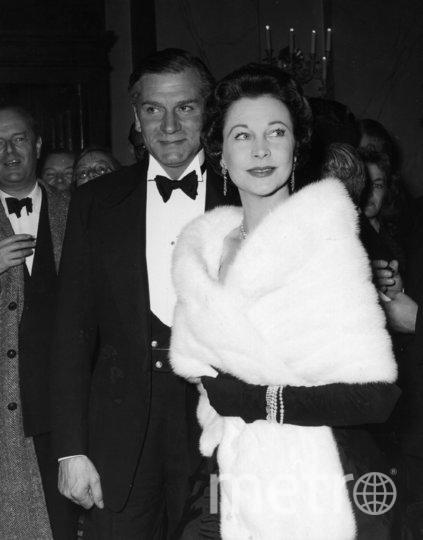 Вивьен Ли. 1956 год. С Лоуренсом Оливье. Фото Getty