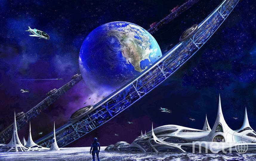 """Вид Орбитального кольца с освоенной поверхности Луны. Фото Артур Скижали-Вейс, """"Metro"""""""