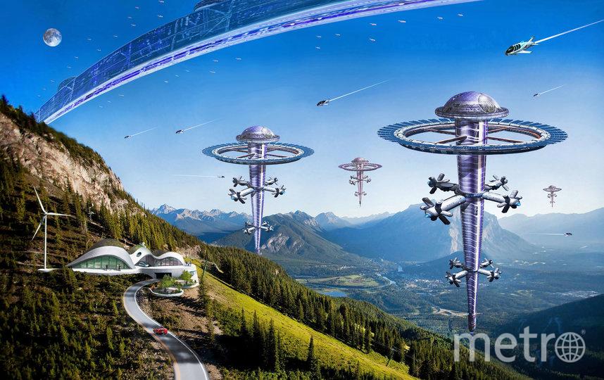 """Вид Орбитального кольца из высокогорных районов Земли с сохранившимися лесами. Фото Артур Скижали-Вейс., """"Metro"""""""