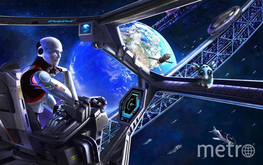 """Пилот-андроид космического шатла на подлёте к Орбитальному кольцу. Фото Артур Скижали-Вейс., """"Metro"""""""