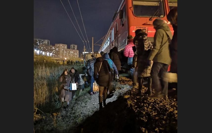 В Приморском районе Петербурга под колёса электрички попал мужчина. Фото https://vk.com/spb_today
