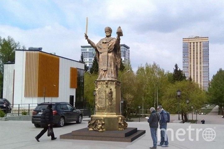 Скульптуру хотели разместить возле Вознесенского кафедрального собора. Фото Пресс-служба мэрии Новосибирска