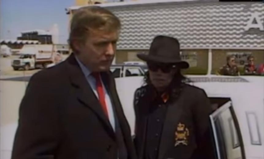 Дональд Трамп и Майкл Джексон. Фото скриншот https://www.youtube.com/watch?v=solqiNSnoXM, Скриншот Youtube