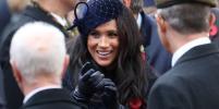 Меган Маркл в шляпке с вуалью посетила с принцем Гарри