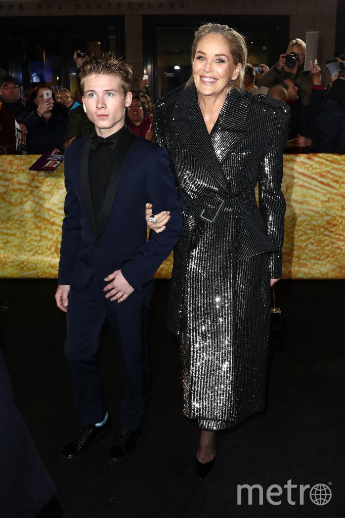 Шэрон Стоун приехала на премию в сопровождении сына. Фото Getty