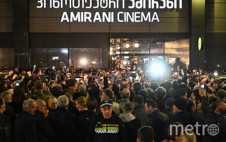 """Фильм """"А потом мы танцевали"""" вызвал акцию протеста в Тбилиси. Фото AFP"""