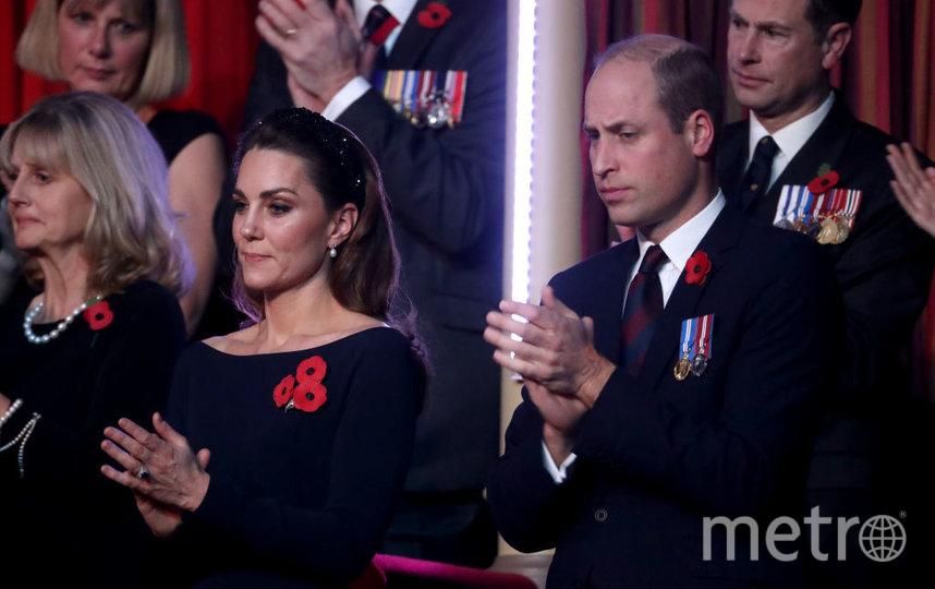 Кейт Миддлтон и принц Уильям в Альберт-Холле вечером 9 ноября. Фото Getty