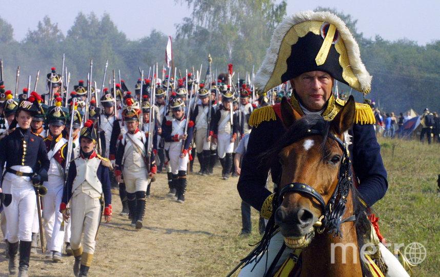 Олег Соколов во время реконструкции в образе Наполеона, архивное фото. Фото Getty