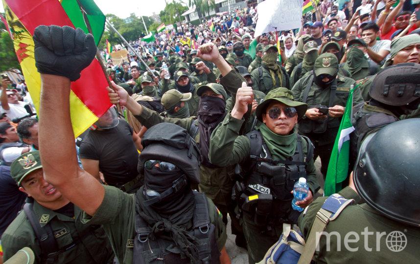 Протесты в Боливии. Фото AFP