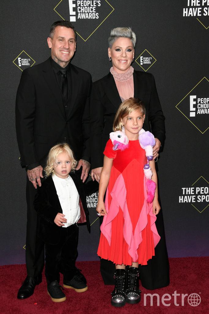 People's Choice Awards 2019. Пинк с мужем и детьми. Фото Getty