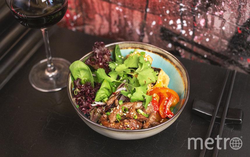 """Салат с говядиной и баклажанами. Фото предоставлено ресторанами, """"Metro"""""""