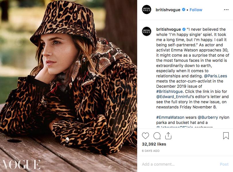 Актриса дала интервью британскому изданию Vogue. Фото скриншот @britishvogue
