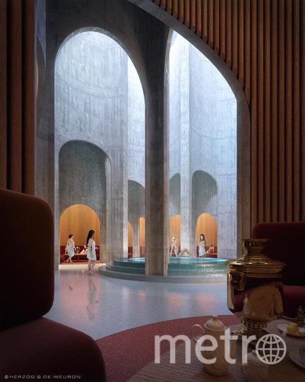 Фото будущих бань изнутри. Фото предоставлено архитектурным бюро Herzog & de Meuron