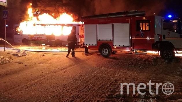 Причины возгорания пока не установлены. Фото АСТ-54