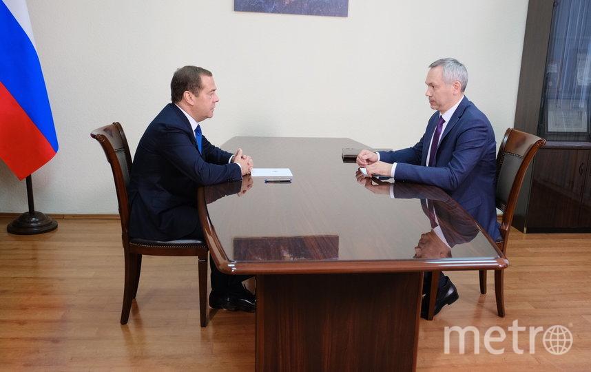Дмитрий Медведев и губернатор Новосибирской области Андрей Травников. Фото Правительство НСО