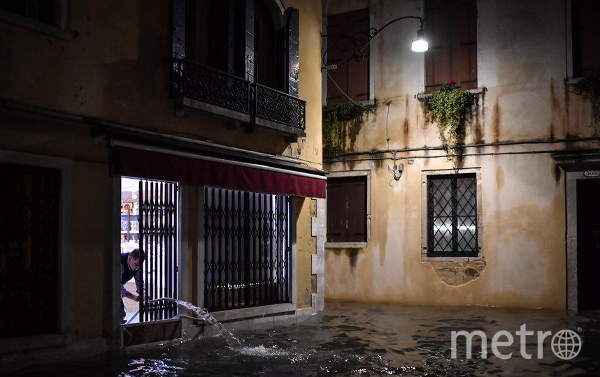 Венецию затопило из-за проливного дождя. Фото AFP