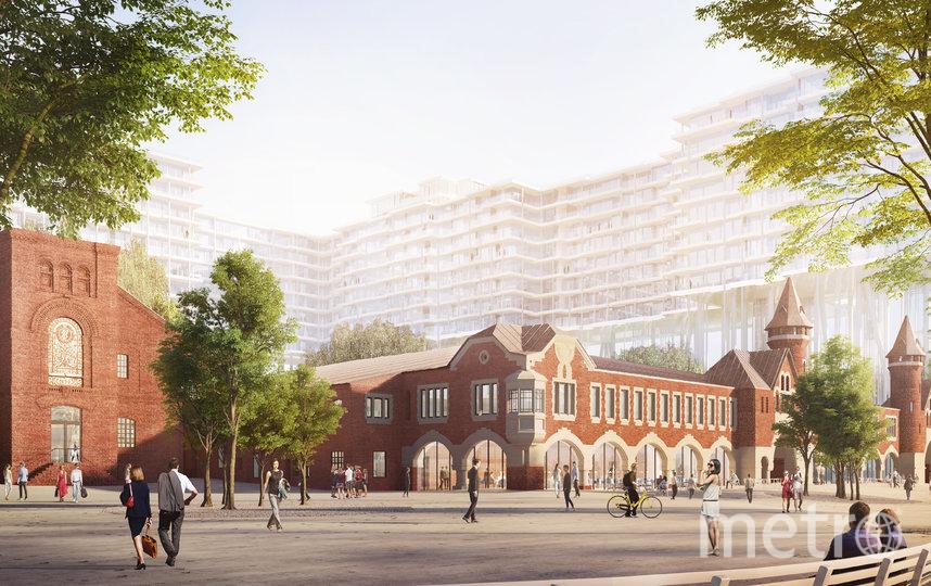 Проект реставрации завода и строительства там причудливой многоэтажки планируется реализовать в течение пяти лет. Фото архитектурное бюро Herzog & de Meuron