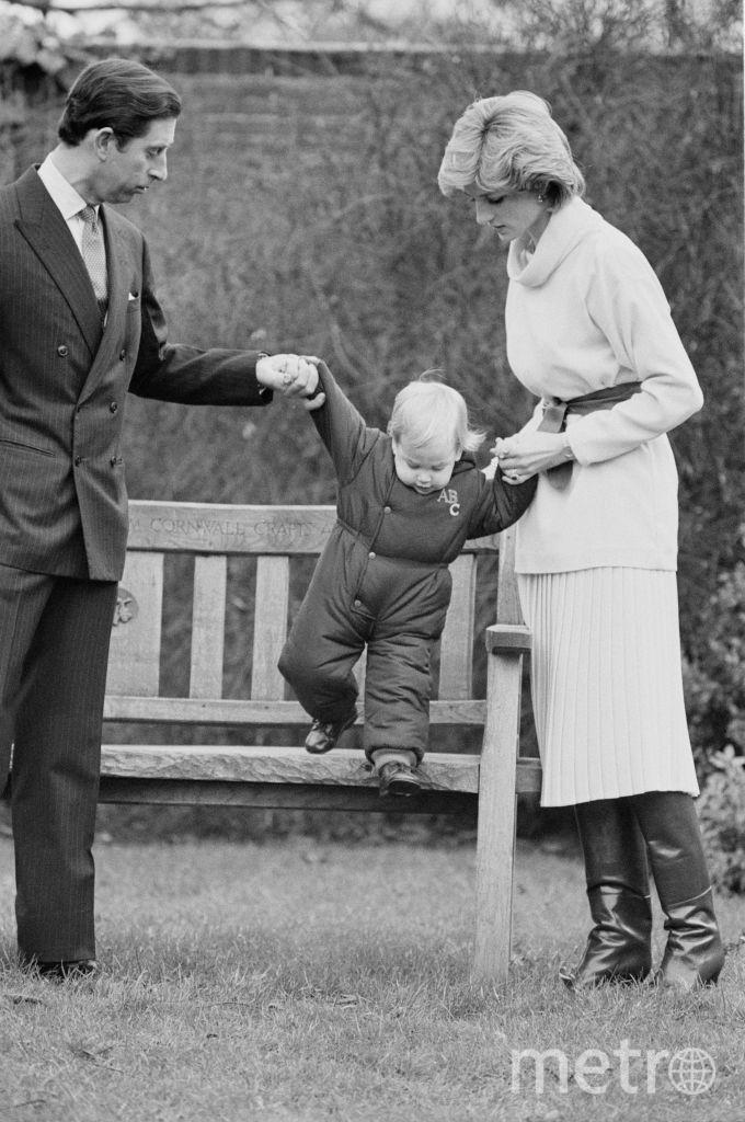 С принцем Уильямом в 1983 году. Фото Getty