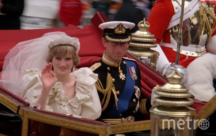 Свадьба принца Чарльза и принцессы Дианы. Фото Скриншот Youtube