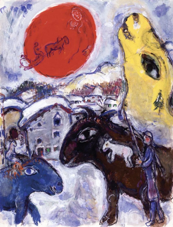 """Среди картин Шагала, представленных на выставке, – """"Белла в Мурийоне"""". Фото © ADAGP Paris 2019 Chagall ®"""