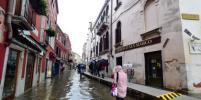 В Венеции опять ожидают сильное наводнение: вода затопит улицы