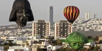 Дарт Вейдер и Микки Маус поднялись в воздух: в Мексике проходит фестиваль воздушных шаров