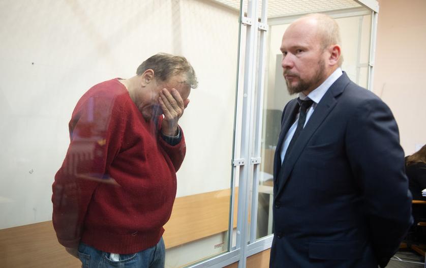 """На суде Соколов рыдал и выл, рассказывая, как совершил убийство Ещенко. Фото """"Metro"""""""