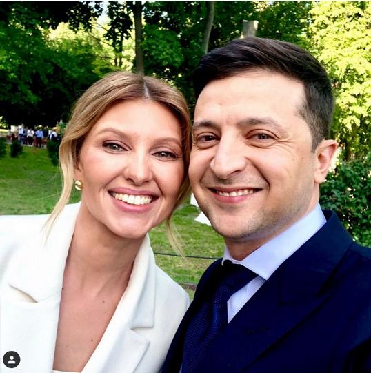 Елена и Владимир Зеленские. Фото скриншот: instagram.com/olenazelenska_official/
