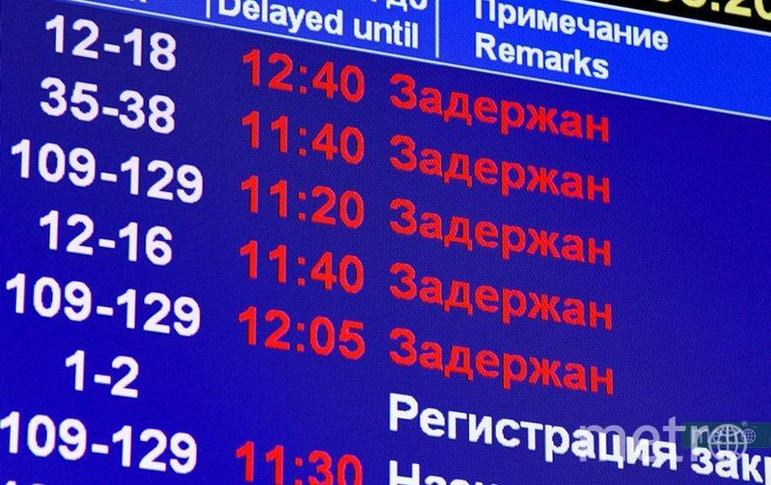 В аэропортах Москвы отменены и задержаны более 45 рейсов. Фото Василий Кузьмичёнок