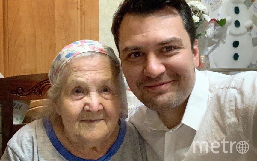 Алефтина Николаевна и её внук Константин. Фото Скриншот Instagram/babushka1922