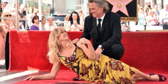 Голди Хоун и Курт Рассел.
