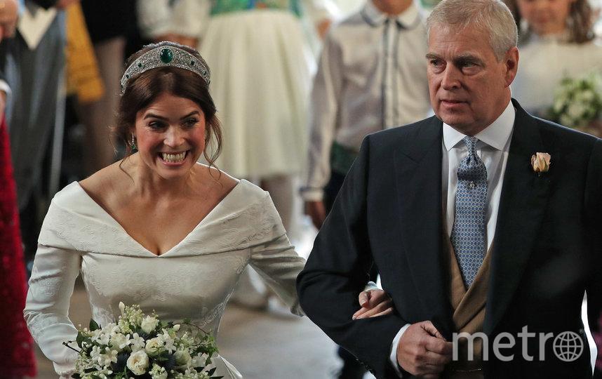 Принц Эндрю с дочерью Евгениий. Фото Getty