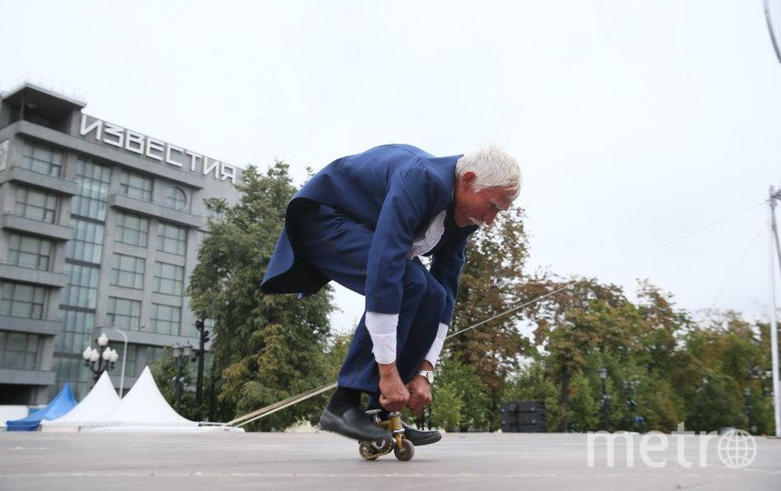 Сергей Дашевский в России показывает трюки. Фото Василий Кузьмичёнок