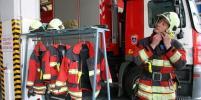 В коттеджном посёлке в новой Москве произошёл крупный пожар