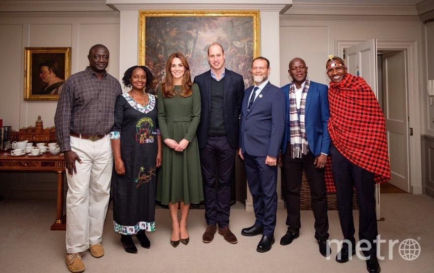 Кейт Миддлтон и принц Уильям встретились с номинантами премии Tusk Awards в Кенсингтонском дворце. Фото Getty