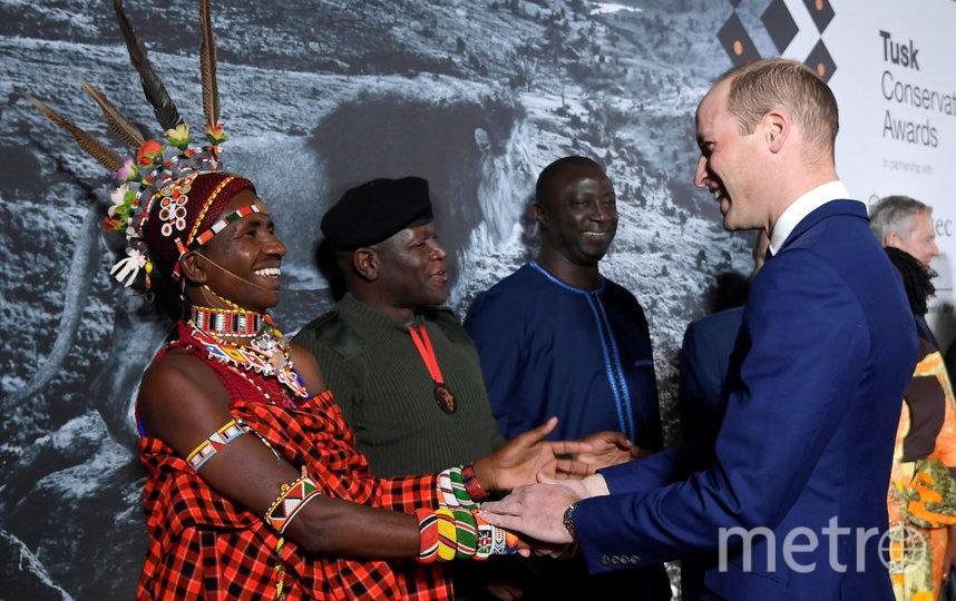 Вечером на вручение премии принц Уильям пришел один. Фото Getty