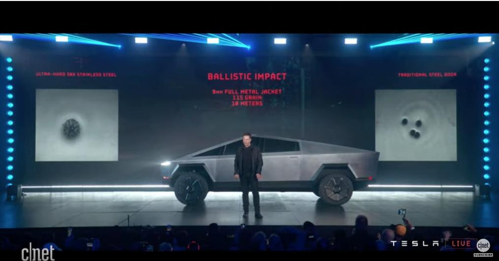 Tesla Cybertruck. Фото https://www.youtube.com/watch?v=464puoD09dM, Скриншот Youtube